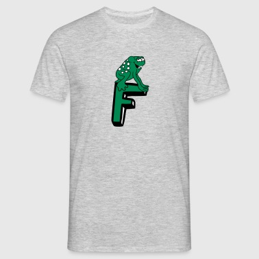grenouille grenouille F lettre initiale initiales  - T-shirt Homme