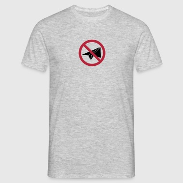 paper airplane forbidden sign sign prohibition not - Men's T-Shirt
