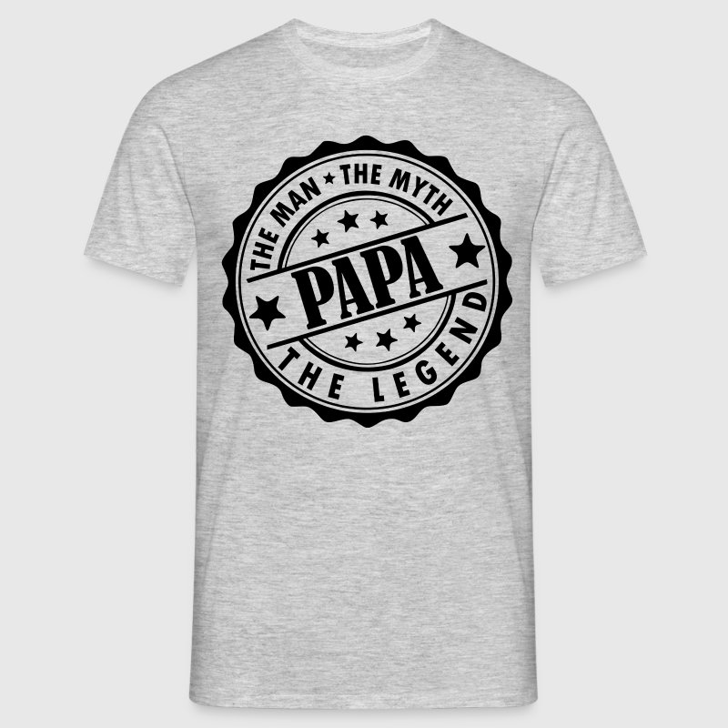 Papa-The Man The Myth The Legend - Men's T-Shirt