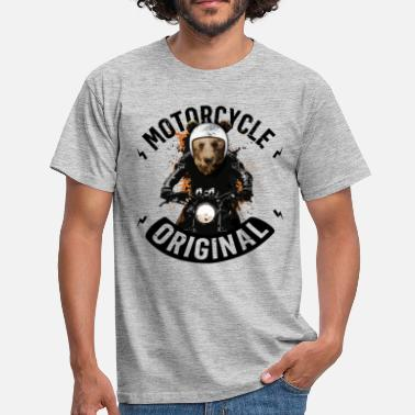 Biker bear. Bear Biker - Men's T-Shirt