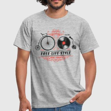 Hipster Free-Life-Style - Men's T-Shirt