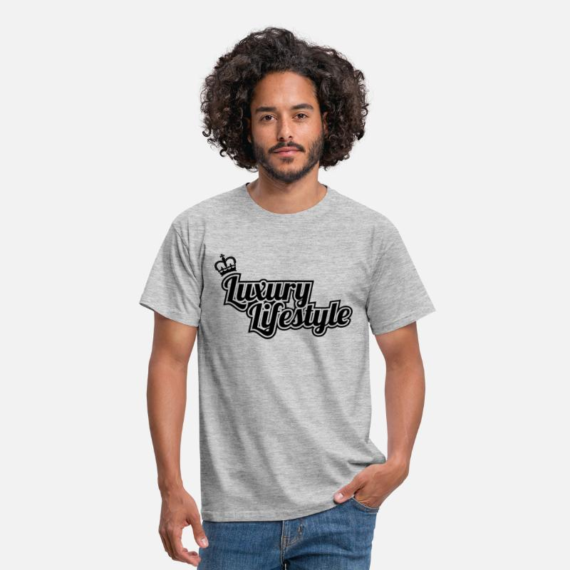 T-Shirts - luxury lifestyle tshirt - Men's T-Shirt heather grey