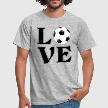 I love football - soccer - Gift - Mannen T-shirt