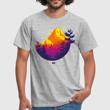Rocky Mountains Kreis - Männer T-Shirt