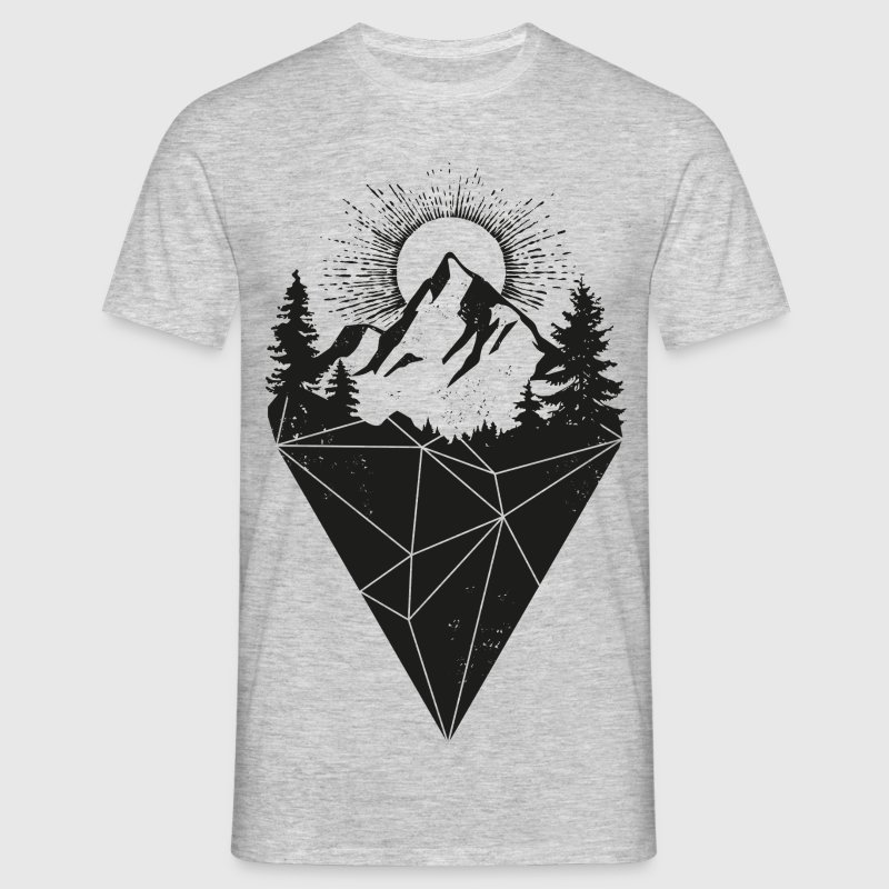 mountain sun grunge - Männer T-Shirt