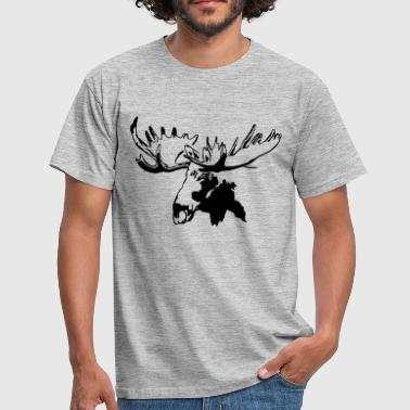 moose - elk - hunting - hunter - Men's T-Shirt