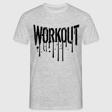 graffiti druppel training gymnastiek spray beest m - Mannen T-shirt