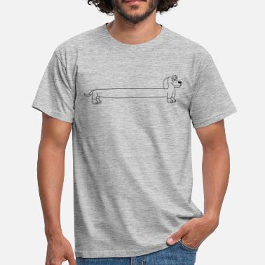 Long-bodied dachshund long body standing waiting obedient funn - Men's T-Shirt