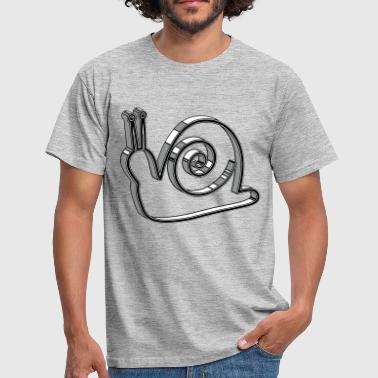 snail 3d design - Men's T-Shirt