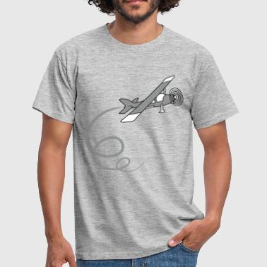 Aerobatic looping aerobatics aerobatic propeller lille fly f - Herre-T-shirt
