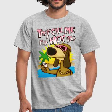 they call me the hot dog - Männer T-Shirt