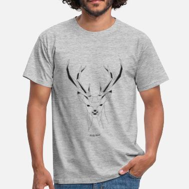 Origami Cerf origami - T-shirt Homme