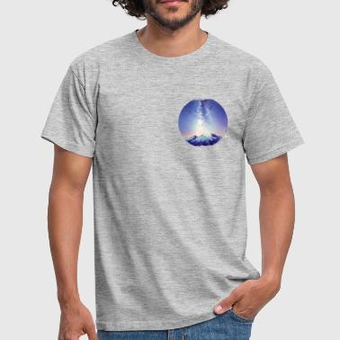 Milky Way Milky Way above Mountains - Men's T-Shirt