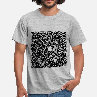 Question Confused Labyrinth Sad Question Mark Godigart - Men's T-Shirt