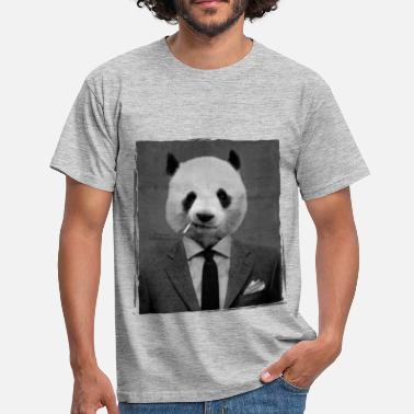 Funny Panda Dandy Panda - Men's T-Shirt