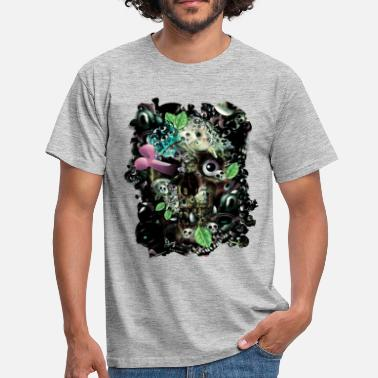 Skully Night - Mannen T-shirt