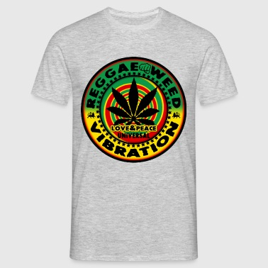 reggae weed love peace vibration - T-shirt Homme