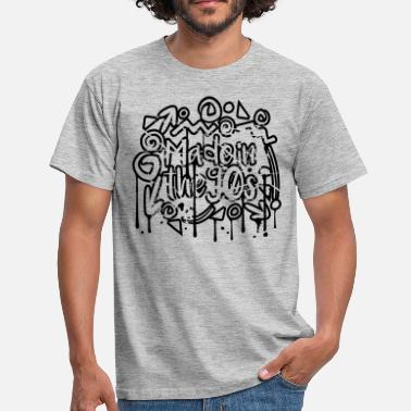 Made In The 90s stamp cracks scratch graffiti drops design cool - Men's T-Shirt