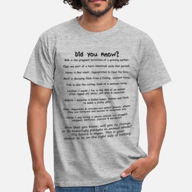 Animal Cruelty Did you know? Vegan facts - Men's T-Shirt