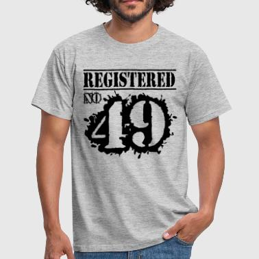 Registered No 49 - 67th birthday - Men's T-Shirt