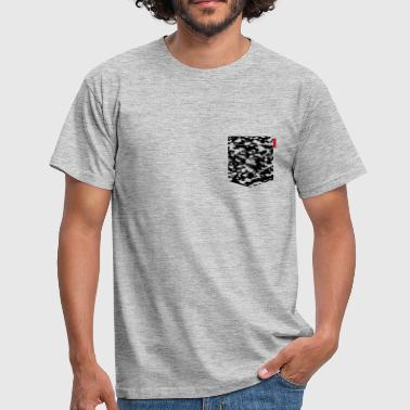 Black Snow Camo Patch - Men's T-Shirt