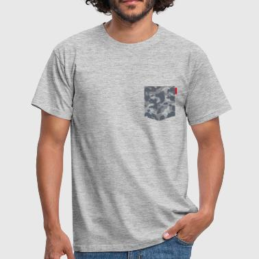 Digital Urban Camo Patch - Men's T-Shirt