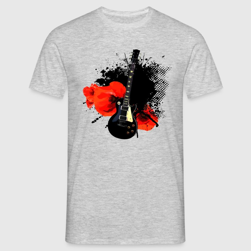 Poppy Guitar Trash Polka - Männer T-Shirt