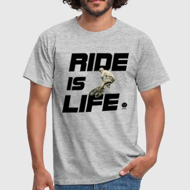 Ride is Life bmx  - T-shirt Homme