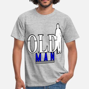 Missmapel Old man old skull older aged retiree grandpa senior - Men's T-Shirt
