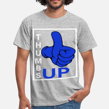 Thumbs Pointing At Me Thumbs up photo made good thumbs sign great - Men's T-Shirt