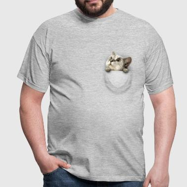 Pocket cat - Männer T-Shirt