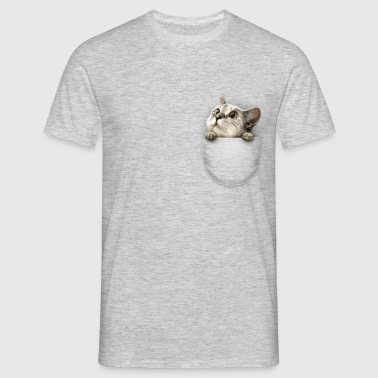 Pocket cat - Herre-T-shirt