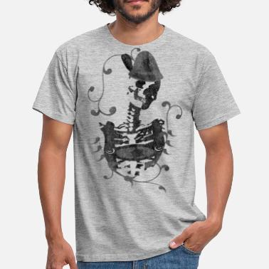 Steiermark Austria skeleton with costume Steiermark Tyrolean - Men's T-Shirt