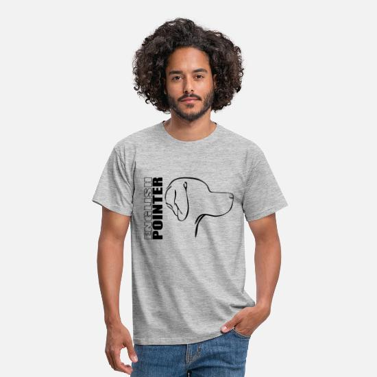 Pointer T-Shirts - ENGLISH POINTER PROFILE - Men's T-Shirt heather grey