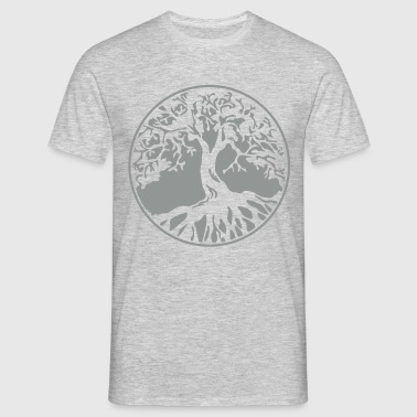 tree of life circle - el árbol de la vivir  - Männer T-Shirt