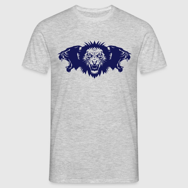 lion rugit face panthere profil - T-shirt Homme