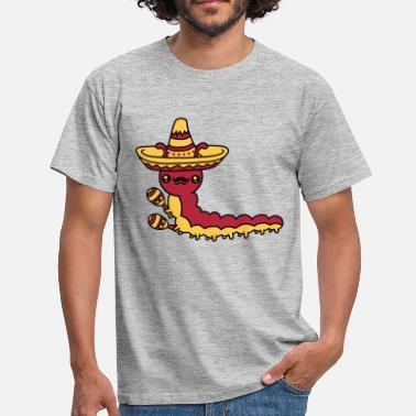Snails Music sombrero mexican music party celebrate rattles hat - Men's T-Shirt