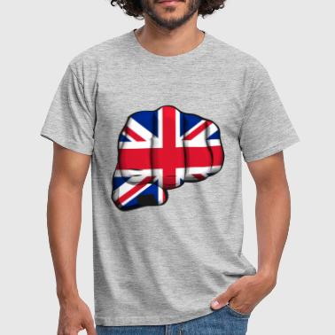 English clenched fist flag - Men's T-Shirt