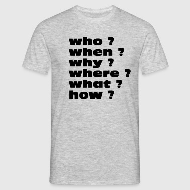Questions - T-shirt Homme