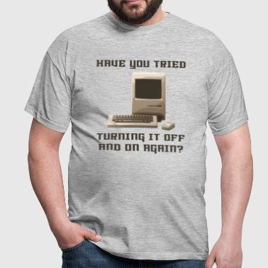 Computer off and on again - Men's T-Shirt