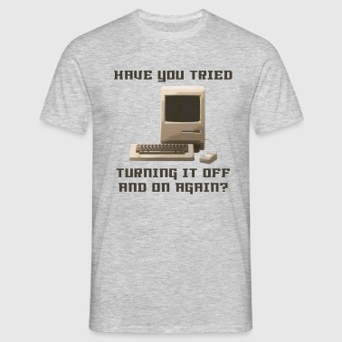 Computer off and on again - Männer T-Shirt