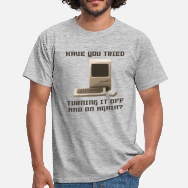 Off Computer off and on again - T-shirt Homme