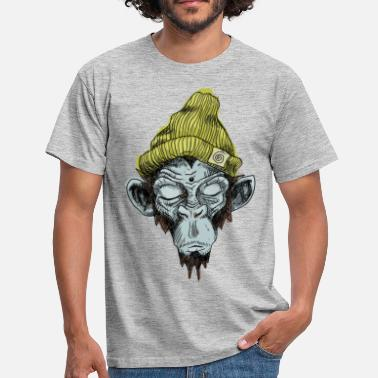Hippie Monkey with hat - Men's T-Shirt