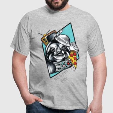 Pizza Sloth - Herre-T-shirt