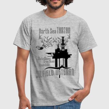 Tartan Oil Field Oil Rig Platform - Men's T-Shirt