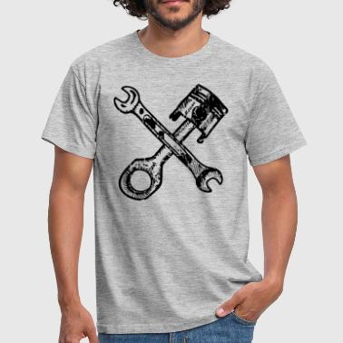 Tuning pistons with crossed wrenches - Men's T-Shirt