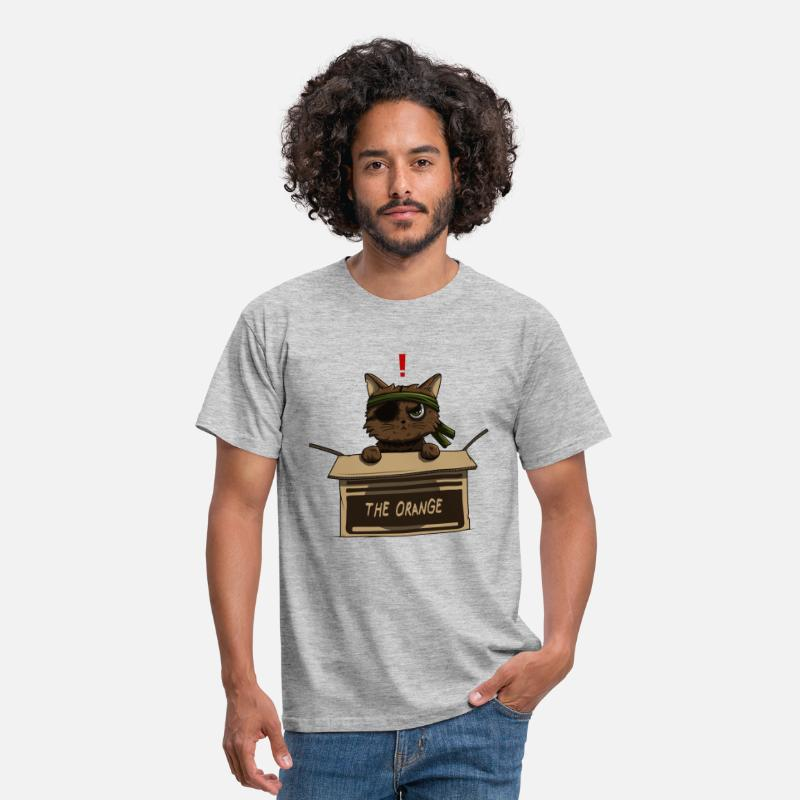 Metal T-shirts - Meow gear solid - T-shirt Homme gris chiné
