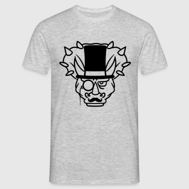 head face sir gentleman mustache mustache cylinder - Men's T-Shirt