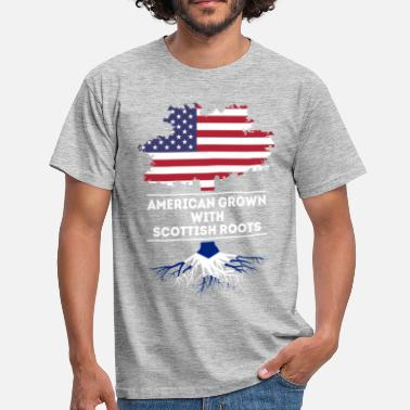 Scottish Roots American grown with Scottish roots T Shirt - Men's T-Shirt