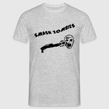 Smash Zombies - Männer T-Shirt
